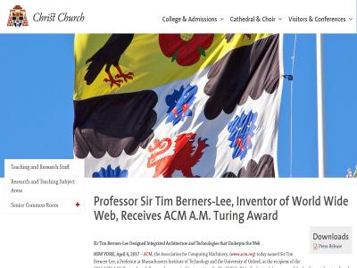 World Wide Web 発明者 ティム・バーナーズ=リー卿、母校オックスフォード大学のコンピューターサイエンス学科教授に就任