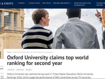 THE 世界大学ランキング2018 総合1位オックスフォード大学ーその教育の核となるカレッジ制度