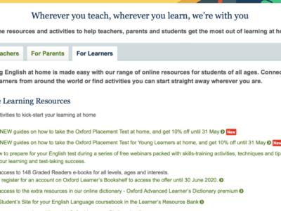 家庭学習を支援するオックスフォード大学出版のポータルサイト Learn at Home