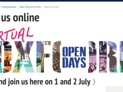 オックスフォード大学のカレッジライフを疑似体験してみませんか? Virtual Open Day 7/1-2開催