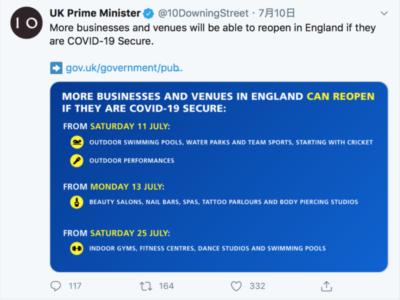 英イングランドで更に規制緩和ー7月11日以降、屋外での公演活動解禁
