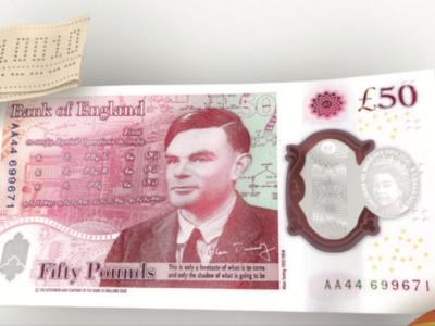 英国で新ポンド札発行 – 肖像はコンピューター科学の父アラン・チューリング